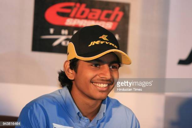 Ashwin Sundir Youngest Racing Champion during a press conference in New Delhi He will be driving for German racing team MaCon Motor Sports during the...