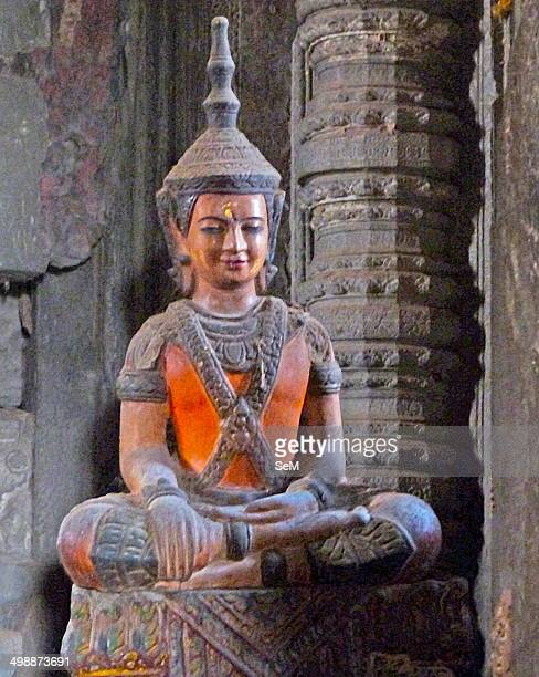Asia ArchaeologyCambodia Induist temple in the ruins of Angkor Wat Siem Reap city Upper gallery at Angkor Wat