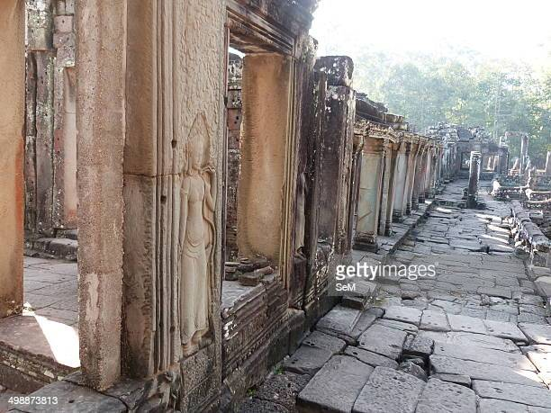 Asia ArchaeologyCambodia The ruins of Angkor Siem Reap city The Bayon Prasat Bayon is a wellknown and richly decorated Khmer temple at Angkor in...