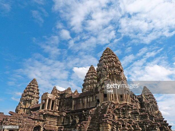 Asia ArchaeologyCambodia The ruins of Angkor Siem Reap city Upper gallery at Angkor Wat