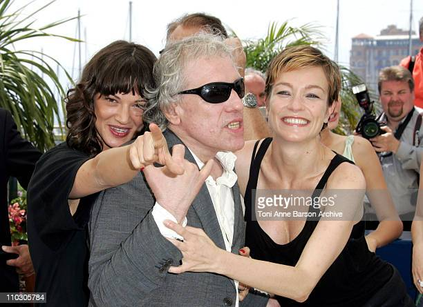 Asia Argento Abel Ferara and Stefania Rocca during 2007 Cannes Film Festival Go Go Tales Photocall at Palais des Festivals in Cannes France
