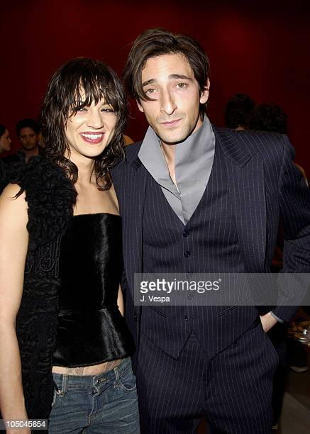 9ea69ba5229b Asia Argento and Adrien Brody during Miu Miu Party for IFP Los Angeles  Filmmaker Labs at