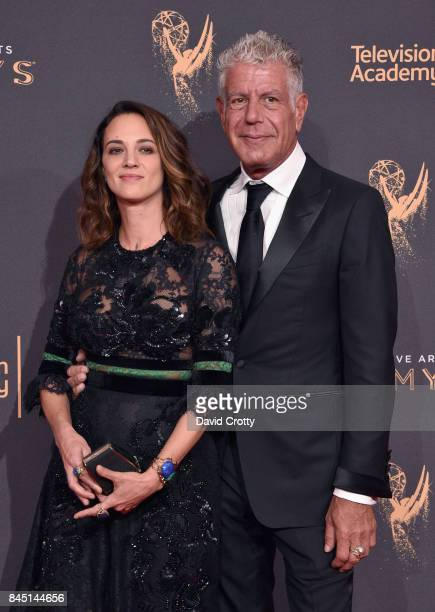 Asia Argento and Anthony Bourdain at the 2017 Creative Arts Emmy Awards Day 1 at Microsoft Theater on September 9 2017 in Los Angeles California