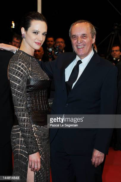 Asia Argento and director Dario Argento attend the 'Dario Argento's Dracula 3D' Premiere during the 65th Annual Cannes Film Festival at Palais des...