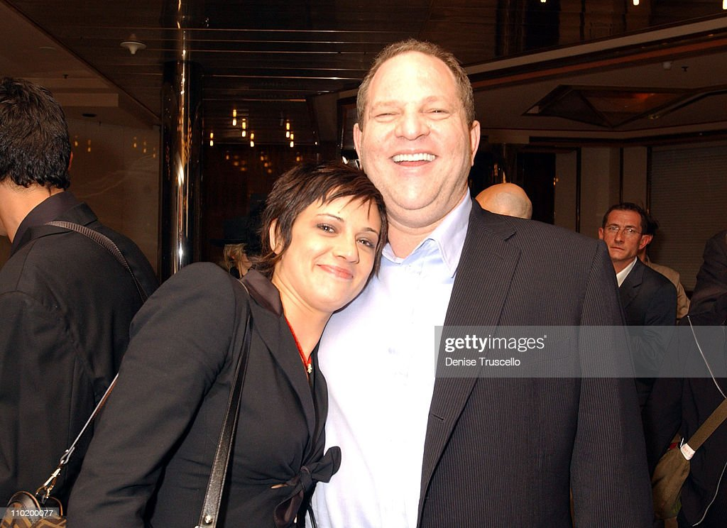 Asia Argento and Harvey Weinstein during 2004 Cannes Film Festival - 'The Heart Is Deceitful Among All Things' - Premiere at Noga Croisette in Cannes, France.