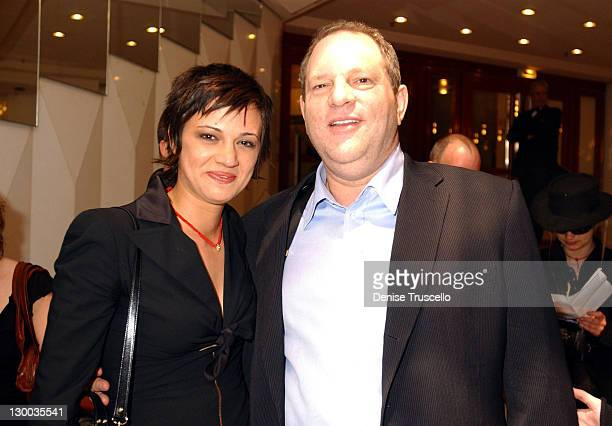 Asia Argento and Harvey Weinstein during 2004 Cannes Film Festival The Heart Is Deceitful Among All Things Premiere at Noga Croisette in Cannes France