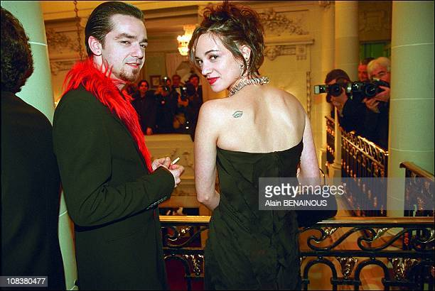 Asia Argento and husband Morgan in Paris France on November 11 2001