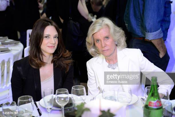 Asia Argento and Marina Cicogna attend 2012 Ciak d'Oro ceremony awards at Palazzo Valentini on June 6 2012 in Rome Italy