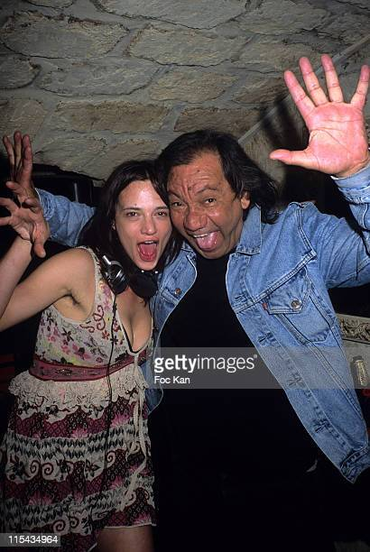 Asia Argento and Tony Gatlif during DJ Asia Argento at the Slow Club Party April 22 2006 at Slow Club in Paris France