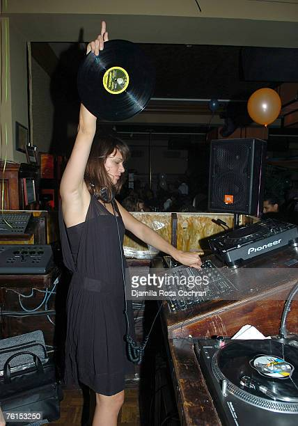 Asia Argento attends Caron Bernstein's birthday party August 16 2007 at The Plumm in New York City