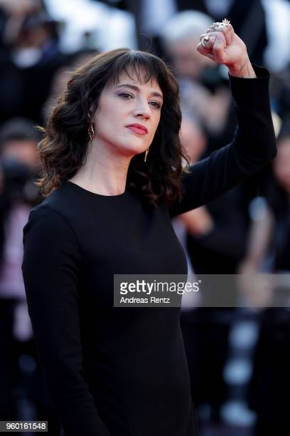 Asia Argento attends the Closing Ceremony screening of The Man Who Killed Don Quixote during the 71st annual Cannes Film Festival at Palais des...