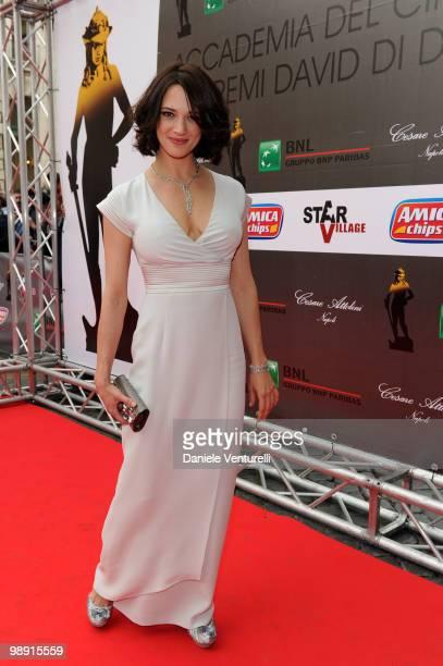 Asia Argento attends the 'David Di Donatello' Italian Movie Awards held at the Auditorium Conciliazione on May 7 2010 in Rome Italy