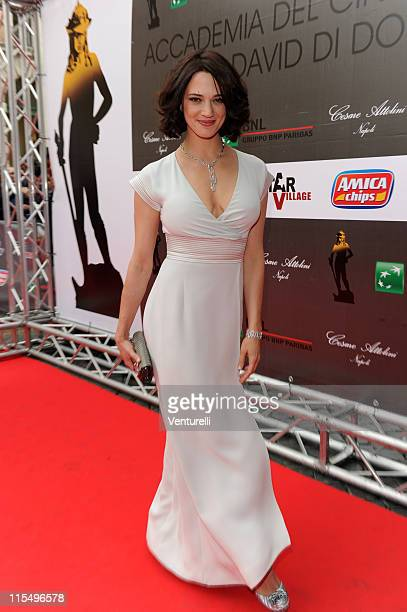 Asia Argento attends the 'David Di Donatello' movie awards at the Auditorium Conciliazione on May 7 2010 in Rome Italy