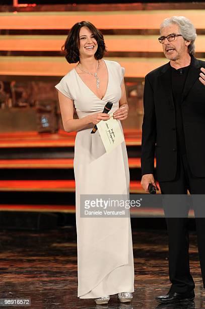 Asia Argento attends the 'David Di Donatello' movie awards at the Auditorium Conciliazione on May 7 2010 in Rome Italy