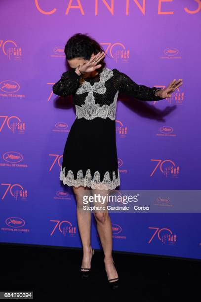 Asia Argento attends the Opening Gala dinner during the 70th annual Cannes Film Festival at Palais des Festivals on May 17 2017 in Cannes France