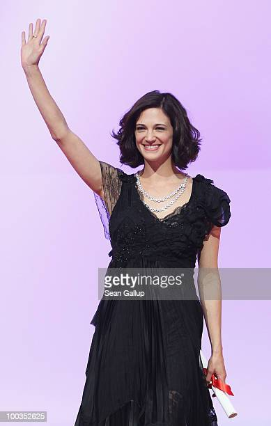 Asia Argento attends the Palme d'Or Award Ceremony held at the Palais des Festivals during the 63rd Annual Cannes Film Festival on May 23 2010 in...