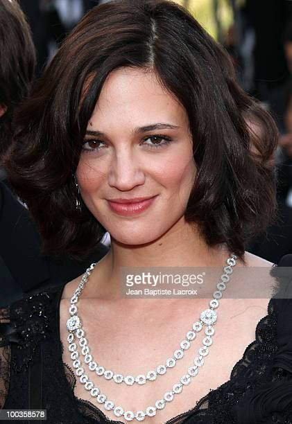Asia Argento attends the Palme d'Or Closing Ceremony held at the Palais des Festivals during the 63rd Annual International Cannes Film Festival on...