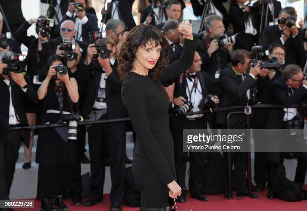 Asia Argento attends the screening of The Man Who Killed Don Quixote and the Closing Ceremony during the 71st annual Cannes Film Festival at Palais...