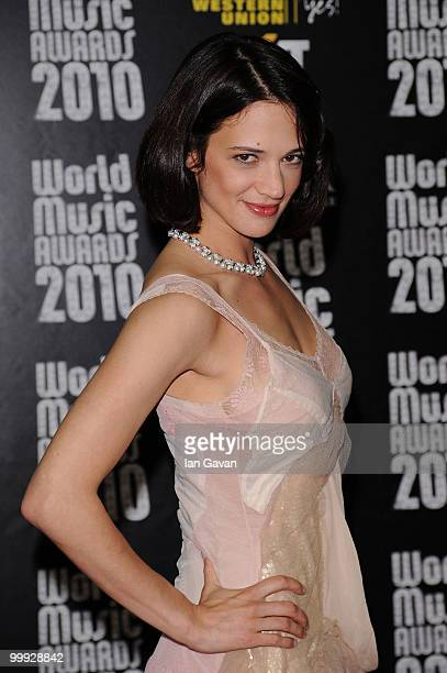 Asia Argento attends the World Music Awards 2010 at the Sporting Club on May 18 2010 in Monte Carlo Monaco