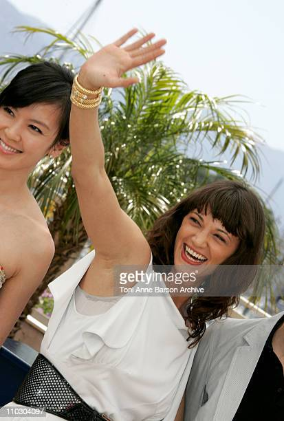 Asia Argento during 2007 Cannes Film Festival 'Boarding Gate' Photocall at Palais des Festival in Cannes France