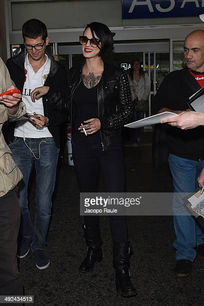 Asia Argento is seen arriving in Nice for the 67th Annual Cannes Film Festival on May 20 2014 in Nice France