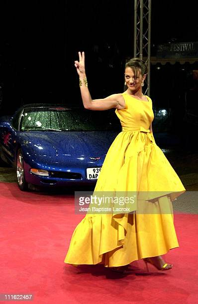 Asia Argento the Corvette from the movie during Deauville 2002 'XXX' Premiere at CID Deauville in Deauville France