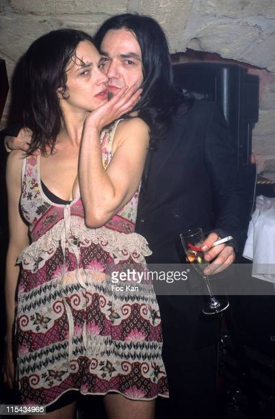 Asia Argento with her boyfriend Morgan during DJ Asia Argento at the Slow Club Party April 22 2006 at Slow Club in Paris France
