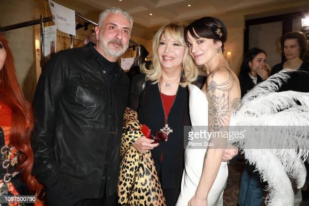 Asia ArgentoAmanda Lear and Antonio Grimaldi pose backstage prior the Antonio Grimaldi Spring Summer 2019 show as part of Paris Fashion Week on...