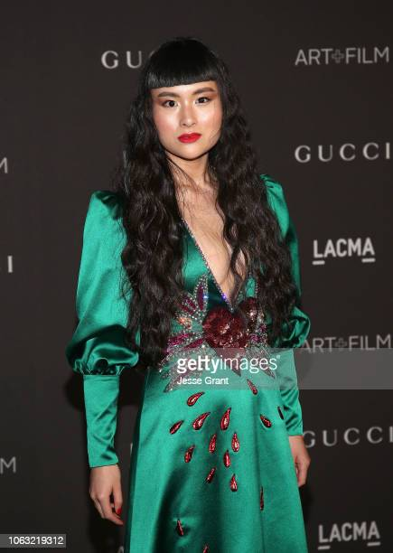 Asia Chow attends the 2018 LACMA Art Film Gala at LACMA on November 03 2018 in Los Angeles California