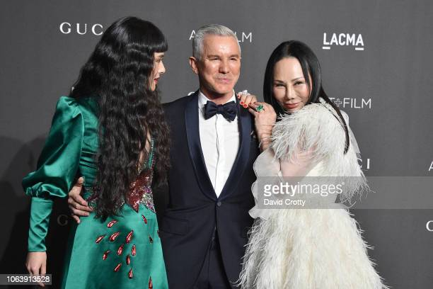 Asia Chow Baz Luhrmann and Eva Chow attend LACMA Art Film Gala 2018 at Los Angeles County Museum of Art on November 3 2018 in Los Angeles CA