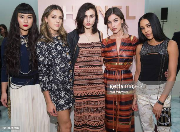 Asia Chow Sistine Stallone Langley Fox Rainey Qualley and Aleali May attend the Chanel Ephemeral Boutique opening at Nordstrom on November 28 2017 in...