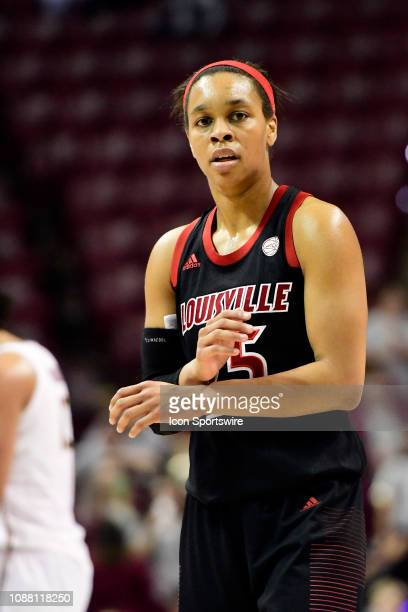 Asia Durr guard Louisville Cardinals signals a play against the Florida State Seminoles in an Atlantic Coast Conference matchup Thursday January 24...
