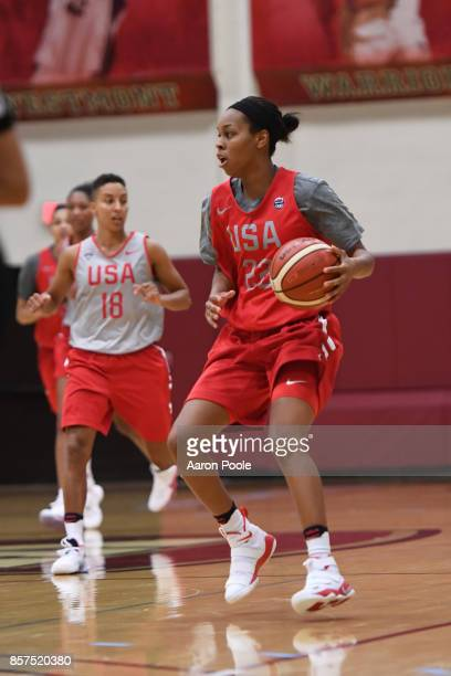 Asia Durr of the 2017 USA Women's National Team during training camp at Westmont College on September 30 2017 in Santa Barbara California NOTE TO...