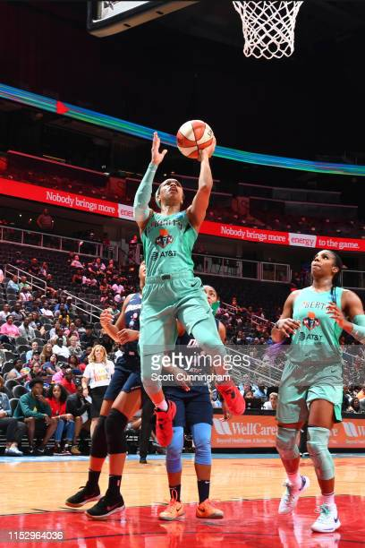 Asia Durr of the New York Liberty shoots the ball against the Atlanta Dream on June 30 2019 at the State Farm Arena in Atlanta Georgia NOTE TO USER...