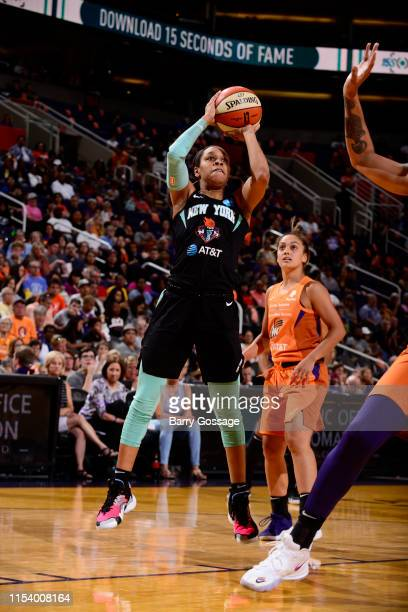 Asia Durr of the New York Liberty shoots the ball against the Phoenix Mercury on July 5 2019 at Talking Stick Resort Arena in Phoenix Arizona NOTE TO...