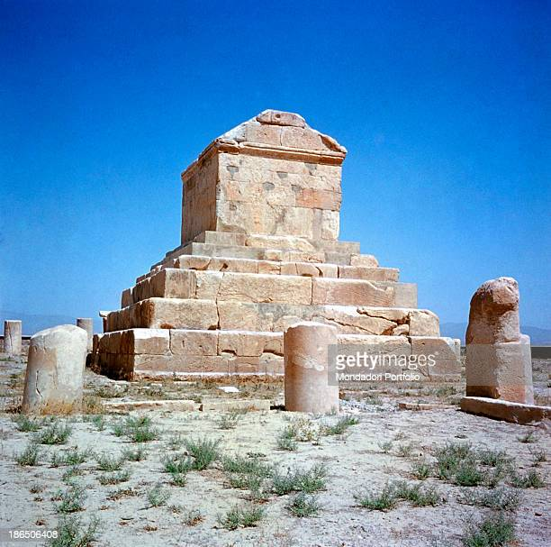Asia Iran Pasargadae Whole building view View of the tomb of Cyrus the Great Persian king The structure is comprised of a base made of steps...