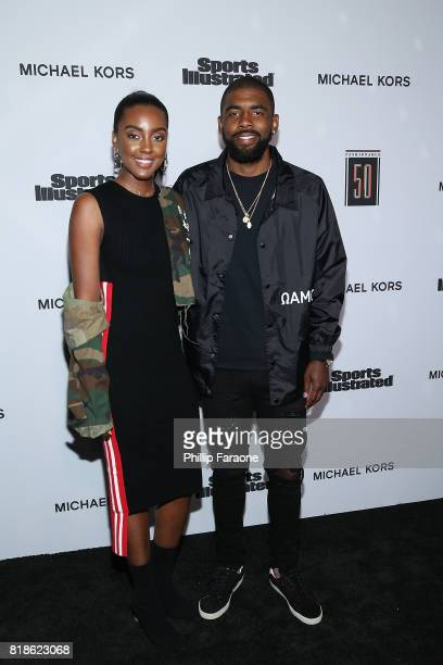 Asia Irving and NBA player Kyrie Irving attend the Sports Illustrated Fashionable 50 at Avenue on July 18 2017 in Los Angeles California