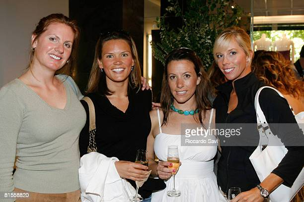 Asia Jenkins Ashley Hall Kim Edwards and Alexis Weaver attend Ivanka Trump and JMendel Champagne and Shopping Event on June 13 2008 in Aspen Colorado
