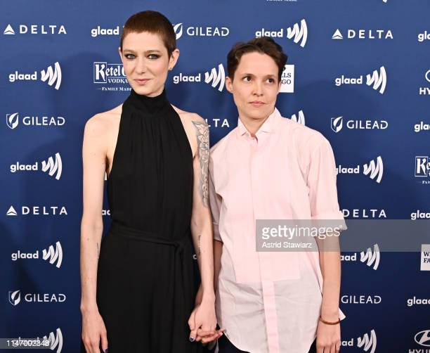 Asia Kate Dillon and Corinne attend the 30th Annual GLAAD Media Awards in partnership with Ketel One FamilyMade Vodka longstanding ally of the LGBTQ...