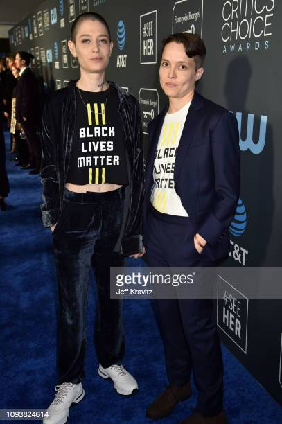 Asia Kate Dillon and guest at The 24th Annual Critics' Choice Awards at Barker Hangar on January 13 2019 in Santa Monica California