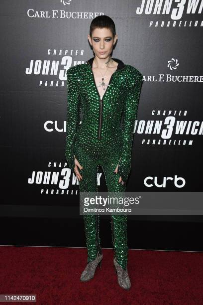 Asia Kate Dillon attends the John Wick Chapter 3 world premiere at One Hanson Place on May 9 2019 in New York City