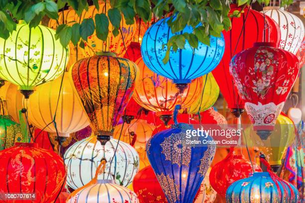 asia lantern in hoi an city, vietnam - traditionally vietnamese stock pictures, royalty-free photos & images