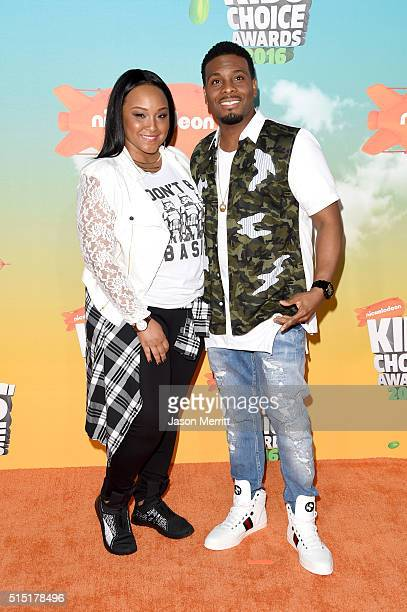 Asia Lee and actor Kel Mitchell attend Nickelodeon's 2016 Kids' Choice Awards at The Forum on March 12 2016 in Inglewood California