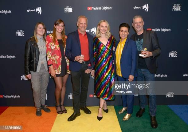 Asia LeMasters Laura Stoddard Rob Epstein Meg Schmidt Mari Rivera and Jeffrey Friedman attends YouTube Originals State Of Pride Los Angeles Premiere...