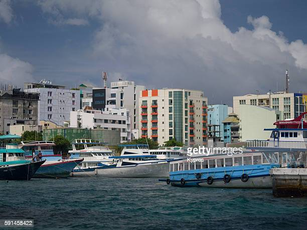 asia, maldives, view of cityscape, buildings and architecture asia, maldives, male, view of cityscape, buildings and architecture - male maldives stock pictures, royalty-free photos & images