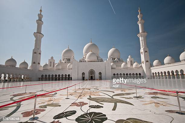 Asia Middle East United Arab Emirates Abu Dhabi Sheikh Zayed Grand Mosque