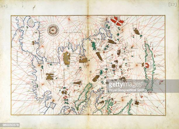 Asia Minor From a manuscript portolan atlas by or from the office of Battista Agnese Venice ca 1553 Asia 1553