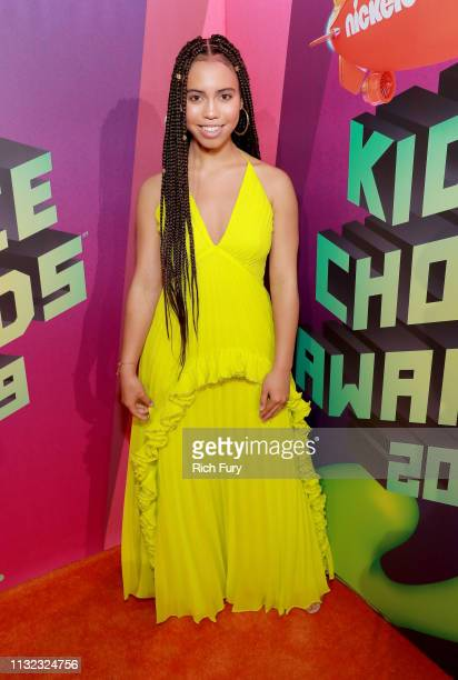 Asia Monet Ray attends Nickelodeon's 2019 Kids' Choice Awards at Galen Center on March 23 2019 in Los Angeles California