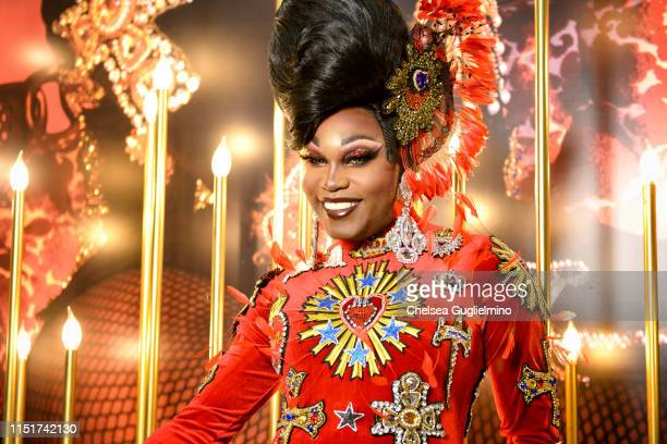 Asia O'Hara attends RuPaul's DragCon LA 2019 at Los Angeles Convention Center on May 25 2019 in Los Angeles California