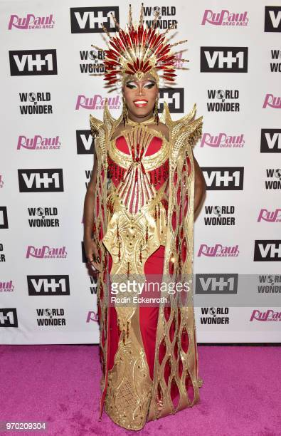 Asia O'Hara attends VH1's RuPaul's Drag Race Season 10 Finale at The Theatre at Ace Hotel on June 8 2018 in Los Angeles California
